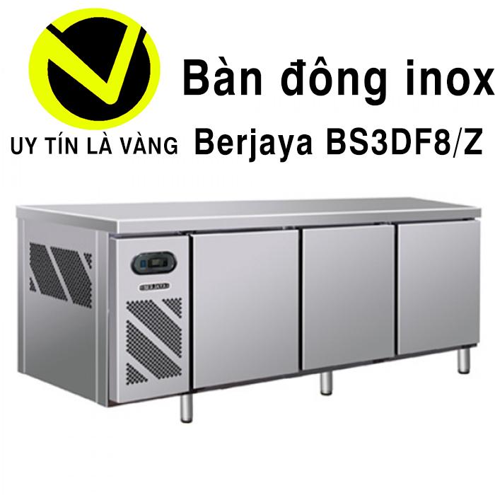Bàn đông inox Berjaya BS3DF8/Z dài 2,4m