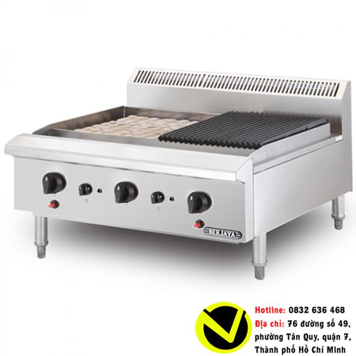 Bếp nướng than nhân tạo 3 họng gas Berjaya CRB3B-17