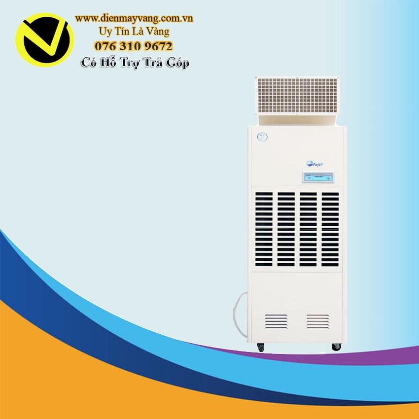 Máy hút ẩm công nghiệp FujiE HM-1800DS bảng điều khiển LCD có ống xả khí bên trên